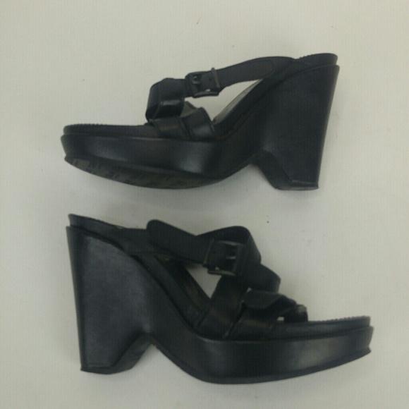 9db0e48efc5 💕Cordani Black Wedge sandals Size 6